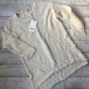 Arnhem Frankie Knit Tunic Jumper Natural sz L NWT